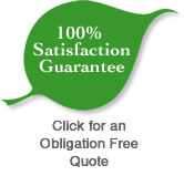 all cleaning services are backed with a 100% satisfaction guarantee